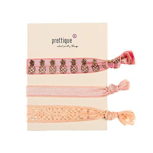 prettique Stoffarmbänder Mädchen rosa/gold