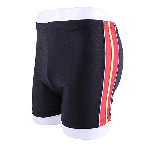 AMYMGLL Men 's Winkel Badehose schnell - wasserdicht bequeme breathable europäische und amerikanische Sonne Kleidung hohe Elastizität Trocknen black red