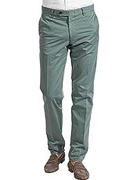 RENÉ LEZARD Herren Hose Baumwolle Freizeithose Unifarben, Größe: 48, Farbe: Grün