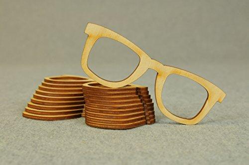 10er Blanko Brille Fasching Holz Bemalen Karnavall Kreativ Basteln Dekoration Kinderzimmer T-X47