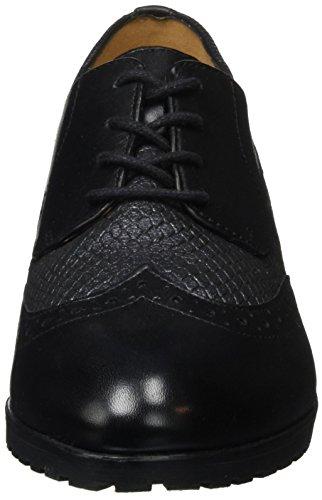 Caprice 23350, Brogues Femme Noir (Black Comb 019)