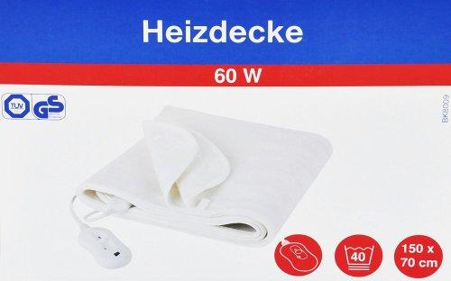 HEIZDECKE FAIRLINE 150x70cm BK8009 WASCHBAR 3 STUFEN 60 W ELEKTRISCHE WÄRMEDECKE