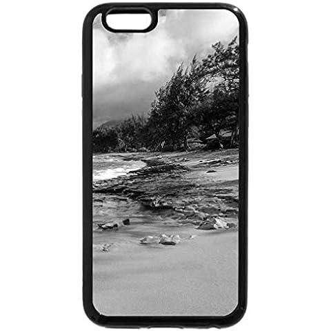 iPhone 6S Case, iPhone 6Case (Black & White)–Haena Beach Kauai Hawaii Isola