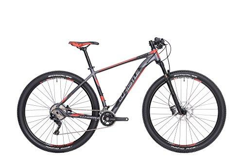 Mountain Bike 29' front/hardtail Whistle Alikut 1721, 22 velocità, colore antracite - rosso opaco, misura L 21' (185cm - 200cm)