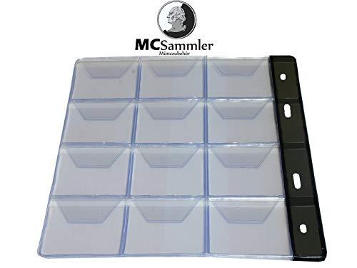 MC.Sammler 10 STK Münzenhüllen Münzhüllen Münzblätter für Münzen bis 43mm Durchmesser z.B für 10 Euro, 20 Euro, 10 DM Münzen