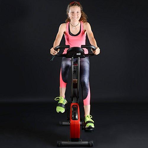 skandika Foldaway X-1000 Fitnessbike Heimtrainer klappbar mit Handpuls-Sensoren, 8-stufiger Magnetwiderstand, LCD Display ohne Rückenlehne - 8