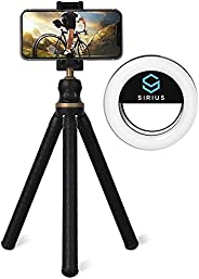 SIRIUS STAR Tripod Stand with Selfie Ring Light | Tripod Stand for Camera, Mobile Phones, and Tablets | Portab