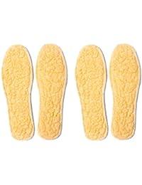 Knixmax 2 Pares Plantillas de Lana-Ideal para Botas,Zapatos Invierno,Zapatos Planos,Cálidas y Cómodas Contra el Frío Invierno,Mantiene Calor,Cojín Ultra Suave, Transpirable,Niños Unisexo,27-44EU