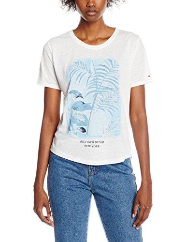 Tommy Hilfiger Herren T-Shirt Naps Cn Tee Ss 27 Weiß (Classic White)