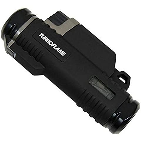 Turboflame Twin Laser Flame Lighter, Black