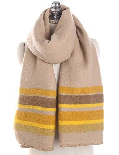 Señoras de las mujeres bufandas de la manera estudiantes ocasionales gruesas suaves cálido otoño e invierno de la cachemira de imitación chal-chal dos colores abierto