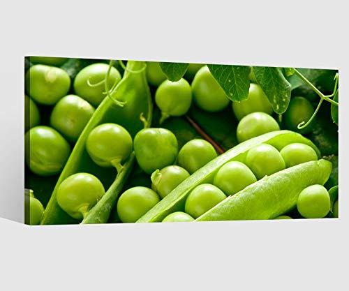 Obst Gemüse Essen Küche grün Leinwand Bild Leinwandbild Wandbild Holz Esszimmer 9BD055, Leinwand Größe 1:80x40cm ()
