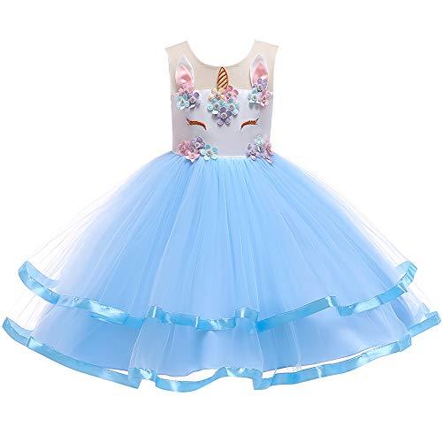 OBEEII Kinder Festliche Kleider Mädchen Einhorn Kostüm Karneval Weihnachten Allerheilige Geburtstag Geschenk Baby Kinder Prinzessin Kleid 2-3 Jahre (Kind Dornröschen Kostüm)