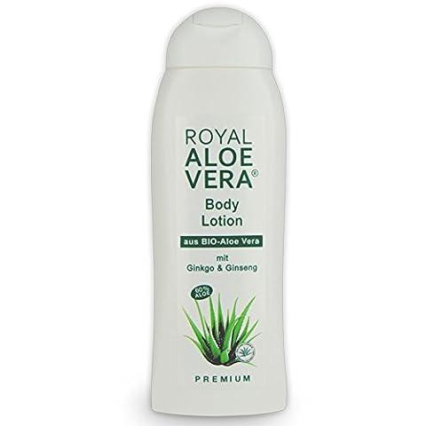 Royal Aloe Vera Body Lotion mit Ginko, Ginseng, 60% Bio Aloe Vera, Körper Lotion (1) (Aloe Vera Bodylotion)