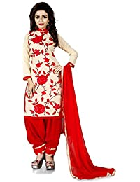 Bolly Lounge Women's Cotton Printed Unstitched Regular Wear Salwar Suit Dress Material(Rose Chiku)