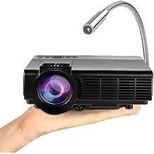 Mini Proyector, Yokkao® Proyector Portátil LED HD 800 Lúmenes 800x480p Entretenimiento Multimedia/ Home Cinema/ Teatro Con puertos HDMI/ VAG/ AV/SD/ USB