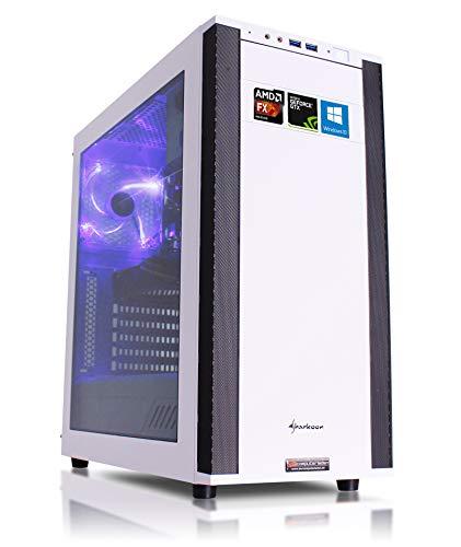 Gaming PC VG4 rot AMD, FX-6300 6x3.5 GHz, 8GB DDR3, 1TB HDD, GTX1050Ti 4GB, Windows 10, Computer für Spiele Desktop Rechner