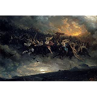 Berkin Arts Peter Nicolai Arbo Giclee Canvas Print Paintings Poster Reproduction(Wild Hunt)