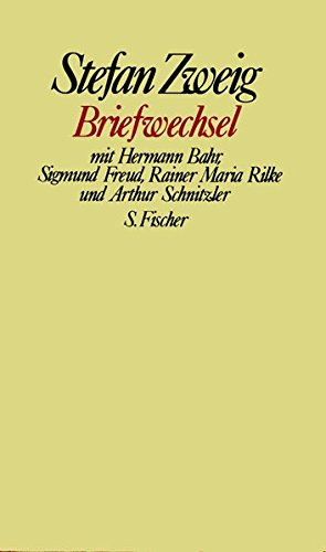 Buchcover Briefwechsel mit Hermann Bahr, Sigmund Freud, Rainer Maria Rilke und Arthur Schnitzler