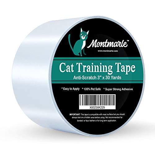 MONTMARLE Anti-Kratz-Katzen-Klebeband - schützen Sie Ihre Möbelbeine Couch Tisch Teppich - Pet Corrector Doppelklebeband - Kratzschutz für Katzen, 3
