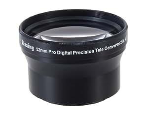 52mm 2.0X Objectif de loupe pour Appareil Photo Numérique & DSL (noir)