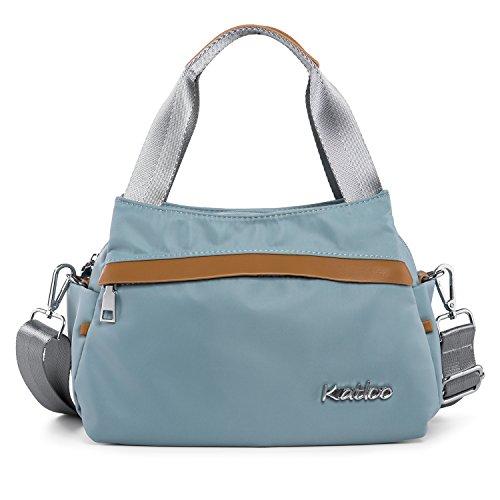 Katloo Nylon Damen Mädchen Kleine Hobo Umhängetasche Handltasche mit Obere Griffe für Einkaufen Uni Reise, Hellgrün (Nylon Hobo Handtasche)