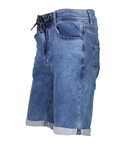 Urban Surface Herren Bermuda Shorts Jogg-Style Middle Blue