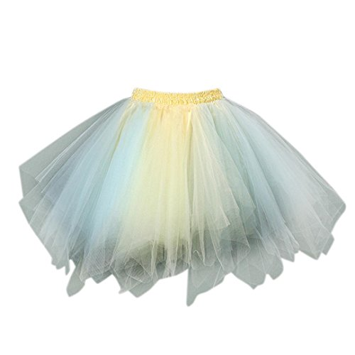 (Malloom® Tütü Damen Tüllrock Mädchen Ballet Tutu Rock Kinder Petticoat Unterrock Ballett Kostüm Tüll Röcke Festliche Tütüs Erwachsene Pettiskirt Ballerina Petticoat Für Dirndl (G))
