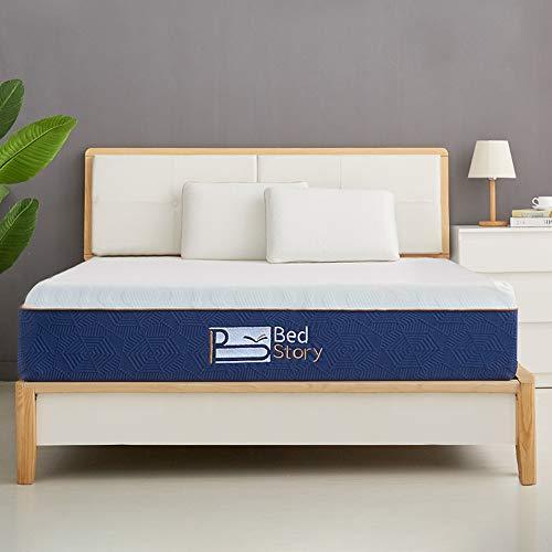 BedStory Colchón Viscoelastico 90 x 190 cm, Colchón de Espuma con Memoria, con Esencia de Lavanda | Extremadamente Duradero |  CertiPUR-US Certificado |  Certificación ISO 9001