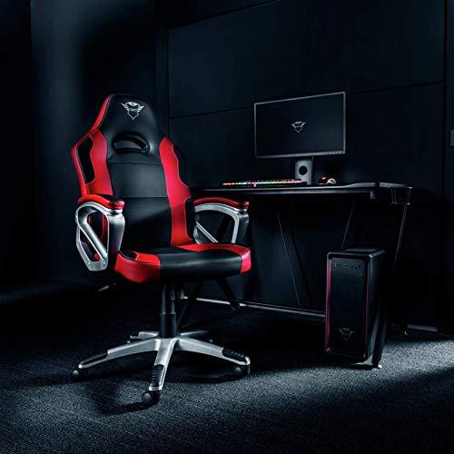 41T8T4WagxL - Trust Gaming GXT 705 Ryon Silla para Gaming, Rojo, 77 x 33 x 65 cm