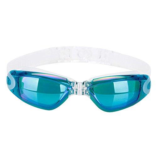 Eizur Schwimmbrille Mit Earplugs Anti-Fog Einstellbar Sommer Schwimmen Brille UV-Schutz...