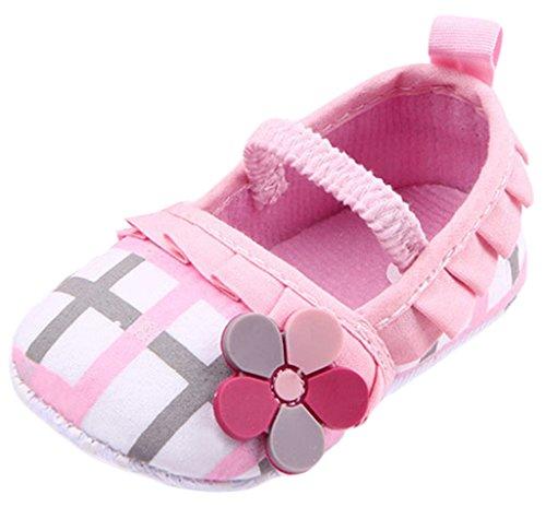 La Flores Babyshuhe Sapatos Voga Criança Grade Tup Rastejando Rosa Sapatos