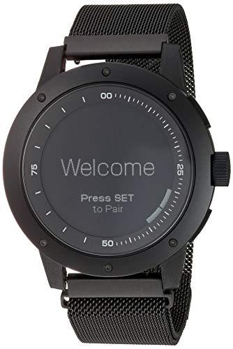 Matrix Power Watch - Smartwatch, nessuna ricarica necessaria, funziona con il calore del corpo, resistente all'acqua fino a 50 metri, PowerWatch App, personalizzabile - Nero