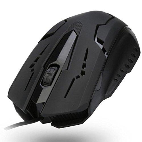 Gaming Maus, luversco Design 1200DPI USB Wired optische Gaming-Mäuse Maus für PC Laptop Favorite für Game Enthusiasten -