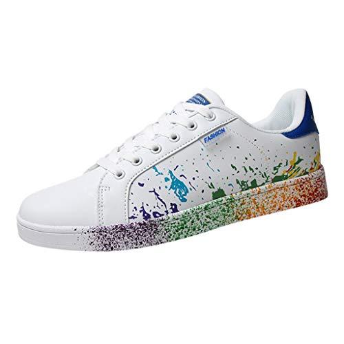 Riou Zapatillas de Deportivos de Running para Mujer Zapatos Blancos Alpargatas Mujer cuña Fitness Casuales...
