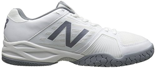 New Balance Women's WC896 Lightweight Tennis Shoe, White/Silver, 10 D US Multicolore