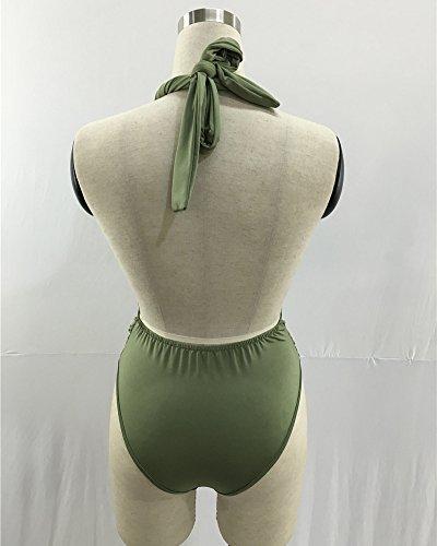 Donna Costume Da Bagno Intero Costumi Interi Bikini Beachwear Mare E Piscina Trikini Cachi