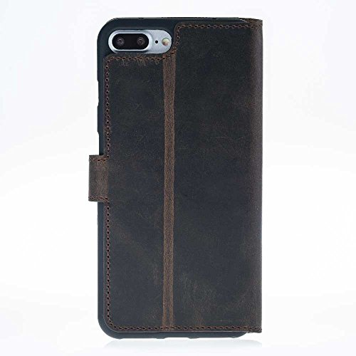 iPhone 7 Plus cuir Coque – Housse Etui Coque Portefeuille Antic Café Marron café (Antic)