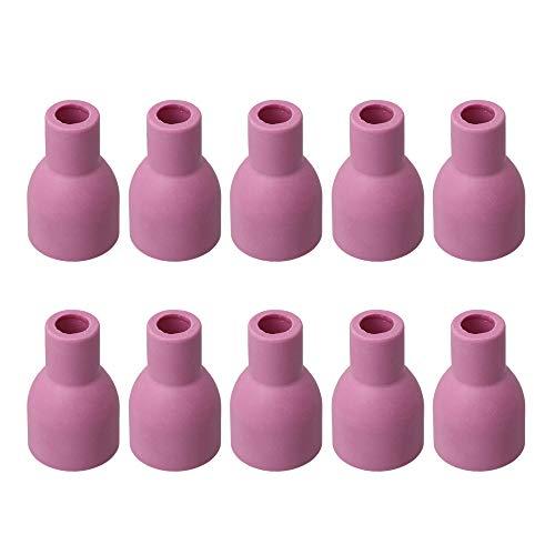 9mm Rose Keramikdüse Gaslinsenschalen für QQ/QS-300A WIG-Schweißbrenner Verbrauchsmaterial Packung mit 10