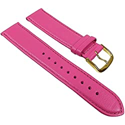 Miami Replacement Band Watch Band kalf nappa Strap Pink 22594G, width:17mm