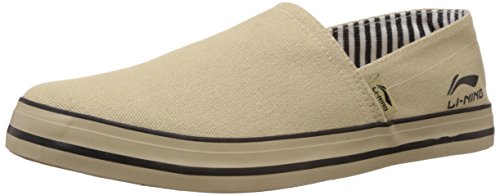 Li-Ning Men's Skipper Beige Loafers - 7 UK  available at amazon for Rs.986
