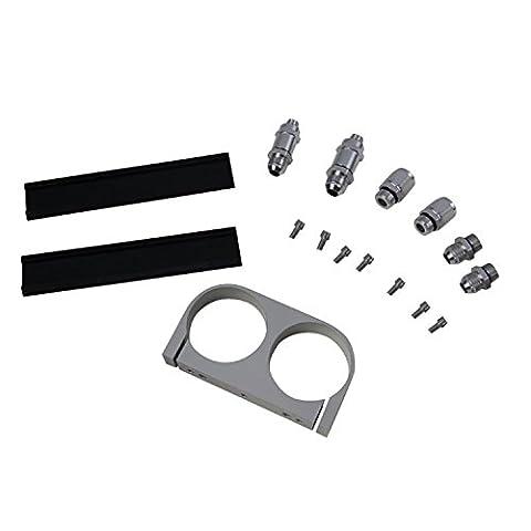 Primecooling Dual Billet Fuel Pump Bracket Kits Polished OUTLET Manifold FIT 044