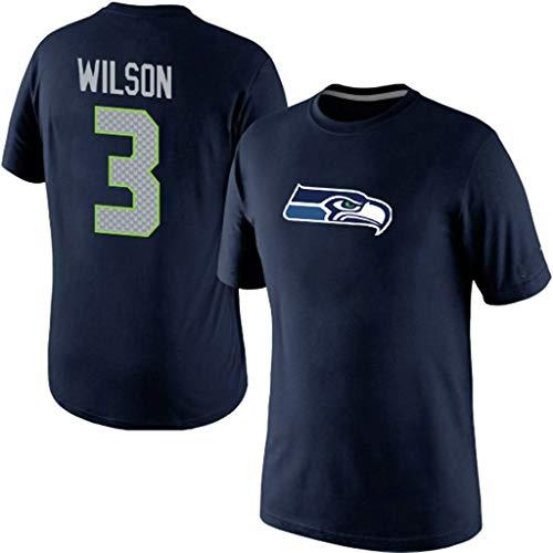 Okeak Seahawks Rugby T-Shirts Fans Unterstützer Trikot Kurzarm American Football T-Shirt Tops Outdoor Atmungsaktive Kleidung 3 18 Trikot,A,M