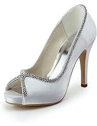 ZQ Zapatos de boda-Planos-Tacones / Punta Abierta-Boda / Vestido / Fiesta y Noche-Negro / Azul / Amarillo / Rosa…
