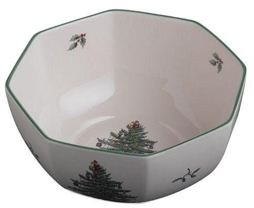 Spode Christmas Tree Octagonal Bowl 8