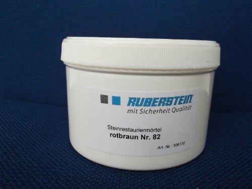 Steinrestauriermörtel / Reparatur mörtel / Sandstein 0,5 kg verschiedene Farben (rotbraun)