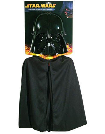 PARTY DISCOUNT ® Kinder-Darth-Vader Mask + Cape (Vader Darth Cape)