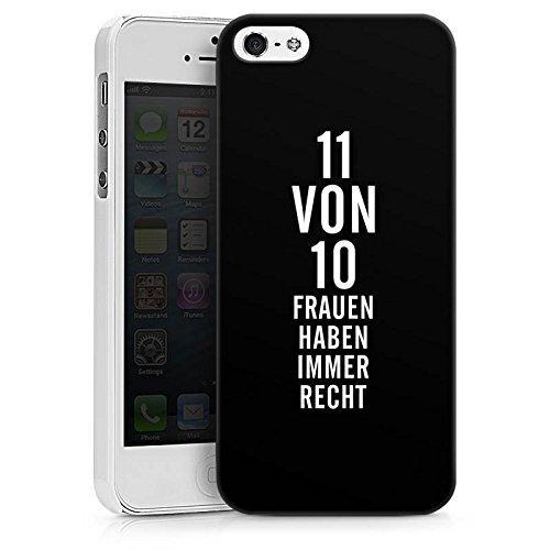 Apple iPhone X Silikon Hülle Case Schutzhülle Lustig Frauen Sprüche Hard Case weiß
