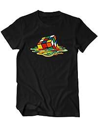 Zauberwürfel Big Rubik Sheldon Bang Theory Fun T-Shirt Herren schwarz