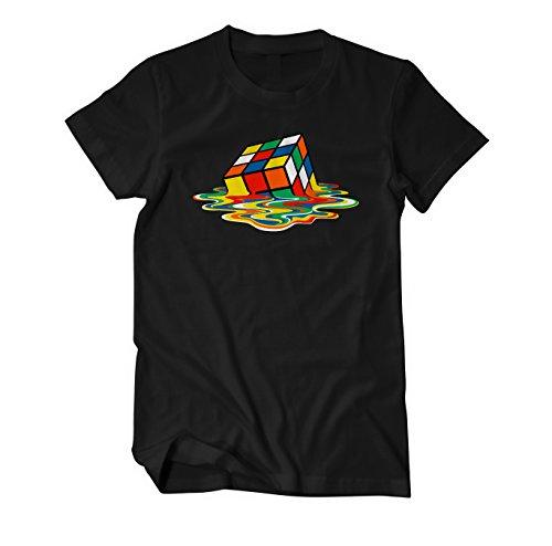 Zauberwürfel Big Rubik Sheldon Bang Theory Fun T-Shirt Herren schwarz Large